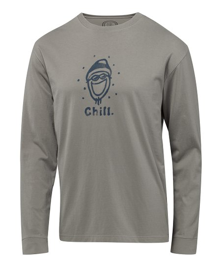 Warm Gray Jake Chill Crusher Long-Sleeve Tee - Men