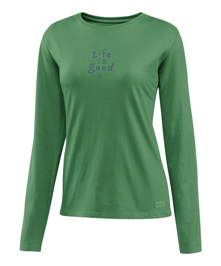 Simply Green 'Life is Good' Crusher Tee - Women