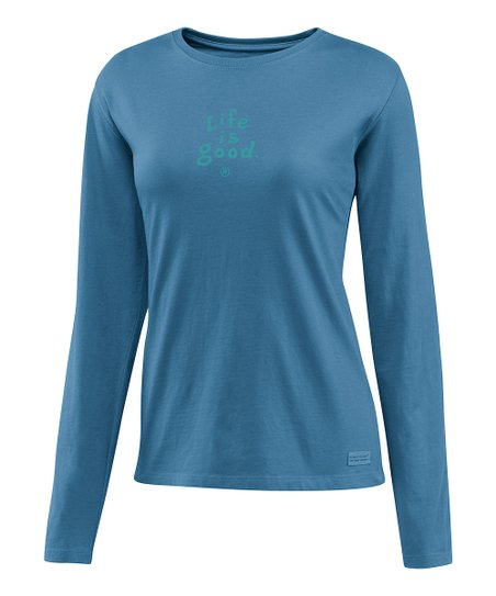Simply Blue &#039;Life is Good&#039; Crusher Tee - Women