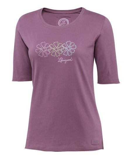 Plum Trio Daisy Crusher Tee - Women