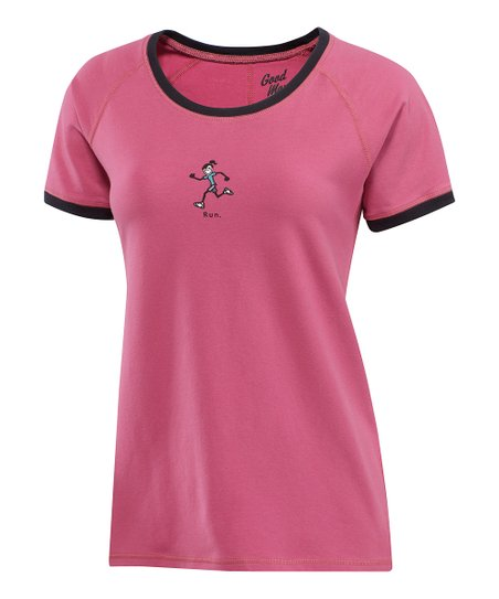 Dusty Pink Jackie Run Scoop Neck Tee - Women