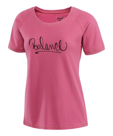 Dusty Pink 'Balance' Scoop Neck Tee - Women