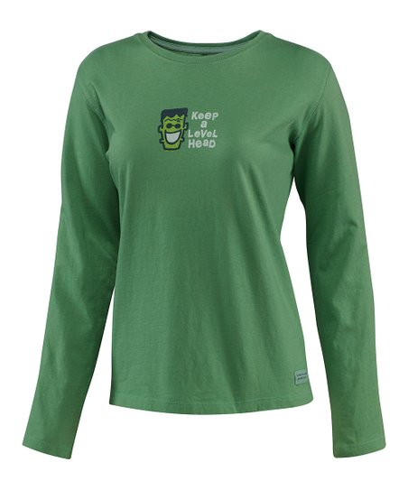Simply Green Level Head Crusher Long-Sleeve Tee - Women