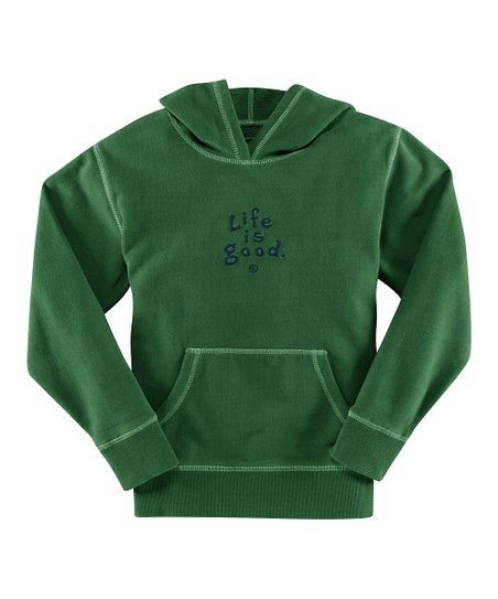 Simply Green &#039;Life Is Good&#039; Hoodie - Girls