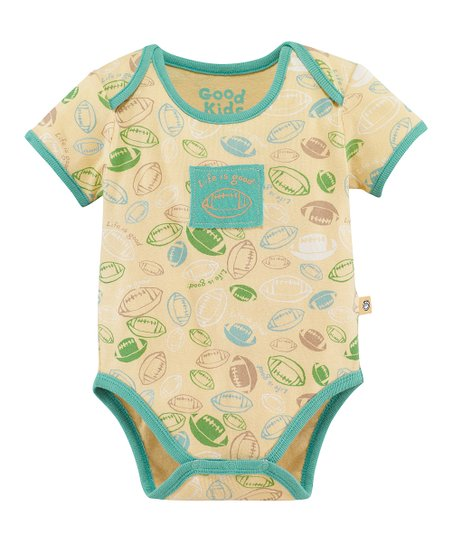 Yellow Jamboree Football Bodysuit  - Infant