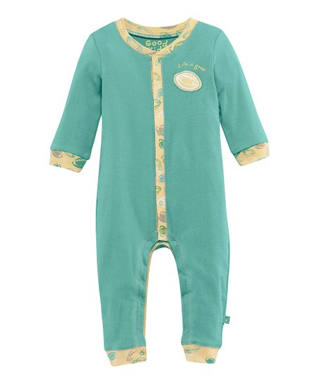 Teal Football Playsuit - Infant