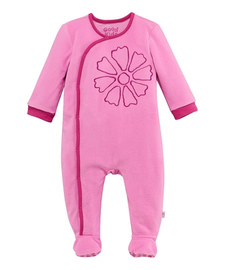 Peony Pink Flower Wrap Footie - Infant