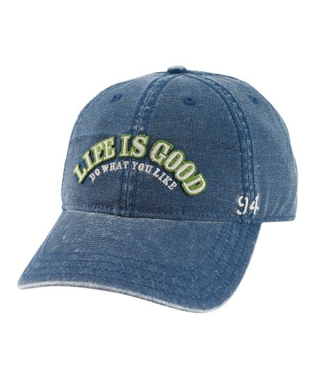 Simple Ocean Blue 'Life Is Good' Baseball Hat - Men