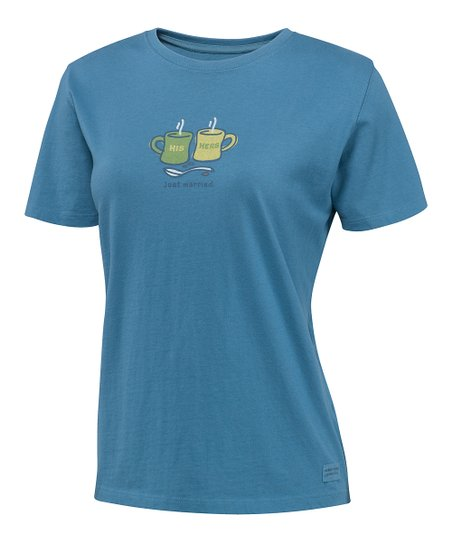 Simply Blue His & Hers Mugs Crusher Tee - Women