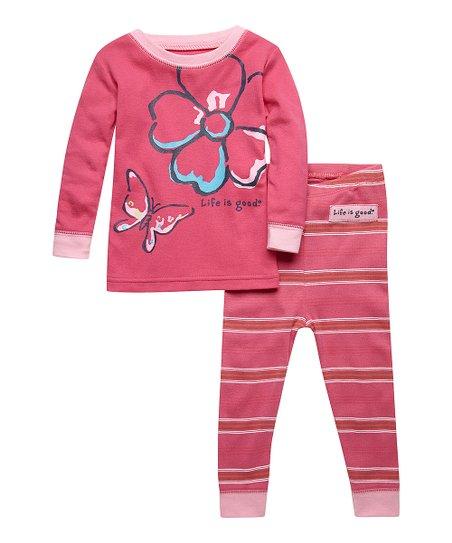 Hot Pink Flower Top & Pants - Infant