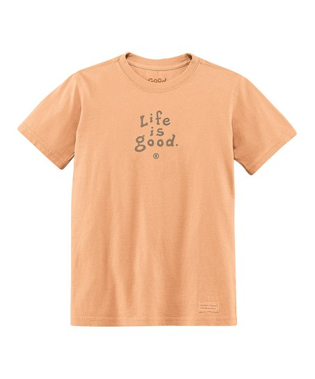 Tangerine Logo Crusher Tee - Toddler