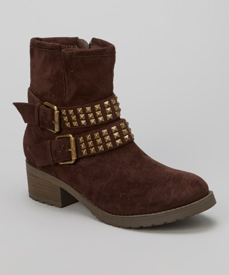 Brown Double-Buckle Christoph Boot