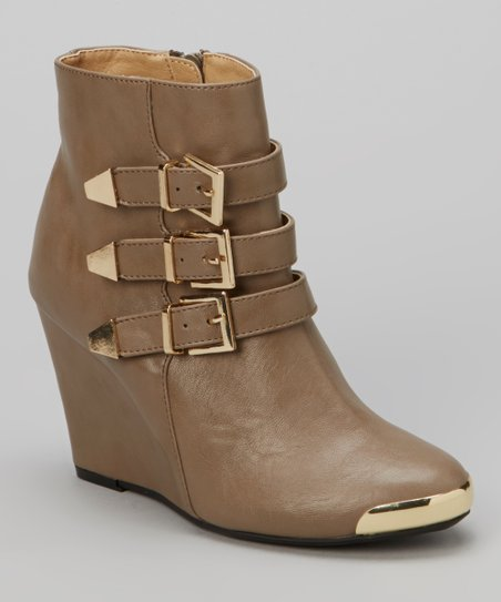 Olive Triple-Buckle Stana Boot