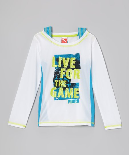 White Puma 'Live for the Game' Twofer Layered Top - Girls