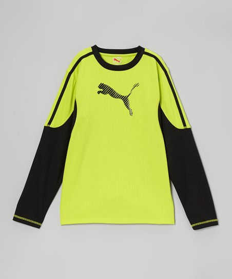 Lime Punch Puma Move Long-Sleeve Top - Toddler