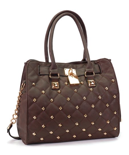 Coffee Quilted Tote