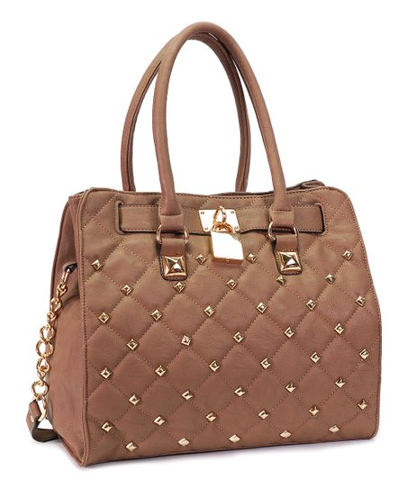 Taupe Quilted Tote