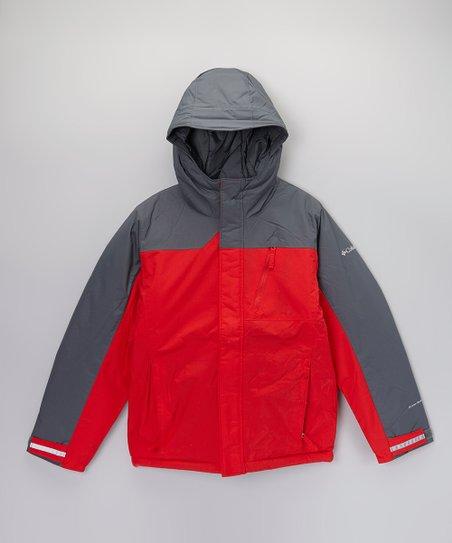 Bright Red & Gray Snowbank Jacket - Boys