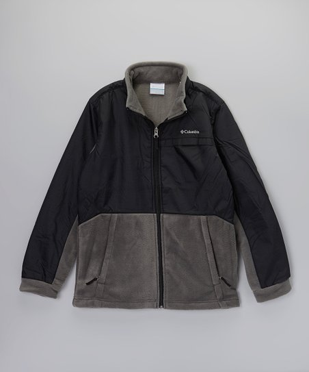 Black Steens Mountain Overlay Jacket - Kids