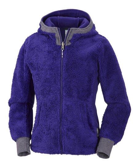 Hyper Purple Snow Monkey Hoodie - Girls