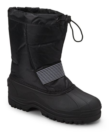 Black Stripe Panel Boot