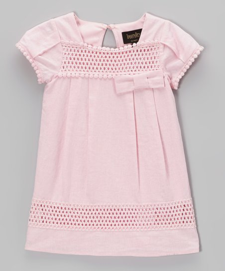 Pink Maria Crochet Swing Tunic - Infant, Toddler & Girls