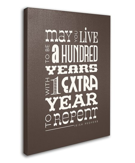 Brown 'Year to Repent' Canvas Wall Art