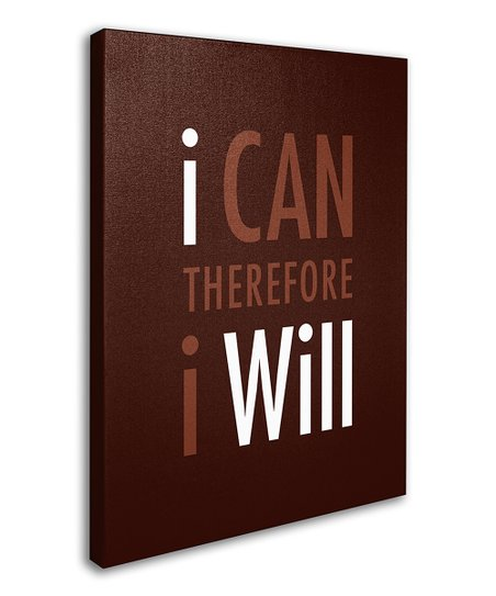 Brown 'I Will' Canvas Wall Art