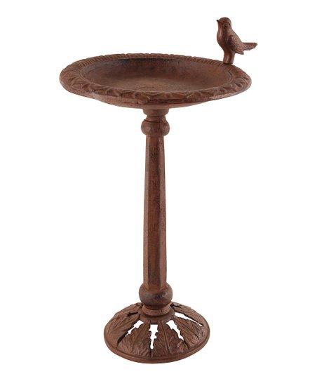 Antique Brown Bird Perch Birdbath