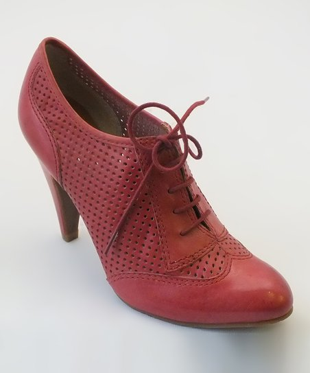 Light Damson Brainy Oxford Leather Bootie
