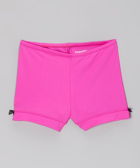 Bright Pink Bow Shorts - Toddler