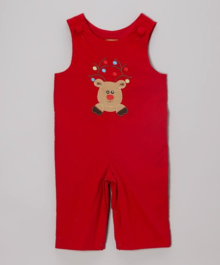 Red Reindeer Overalls - Infant & Toddler