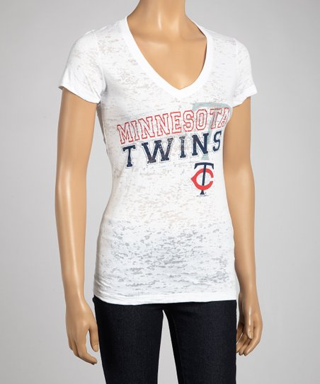 Minnesota Twins V-Neck Raglan Tee
