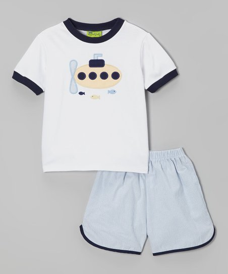 Blue Submarine Tee & Shorts - Infant, Toddler & Boys
