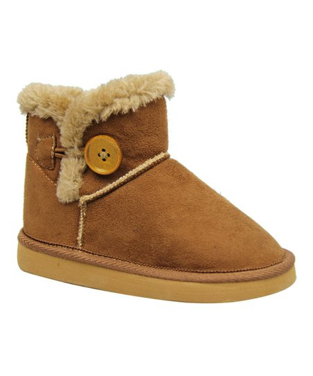Brown Toggle Button Lulu Boot