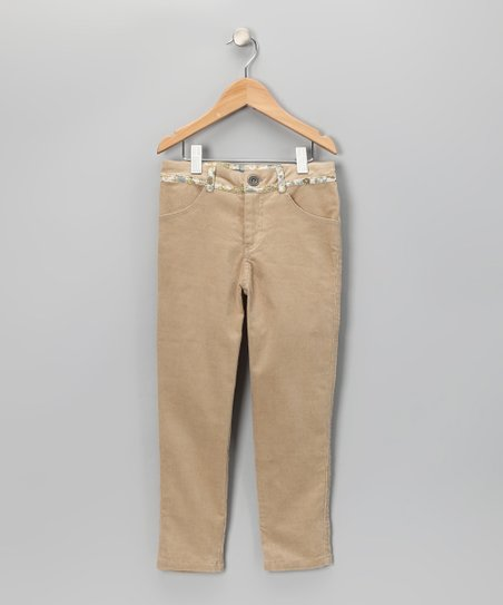 Beige Brittany Pants - Toddler & Girls