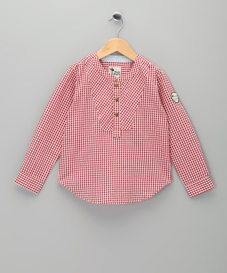Red Gingham Rimbaud Top - Toddler & Girls
