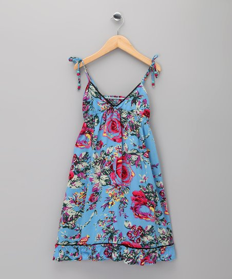 Blue Floral Eugénie Dress - Infant, Toddler & Girls