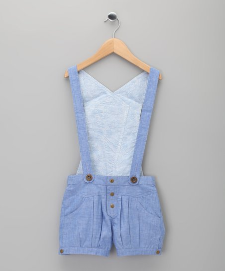 Blue Lolita Suspender Shorts - Toddler & Girls