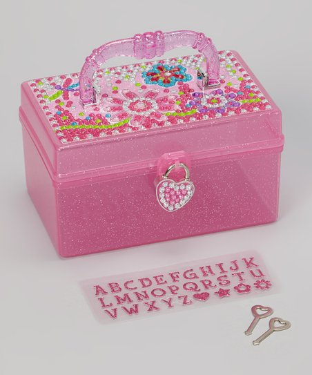 Pink Flower Meadow Jewelry Box