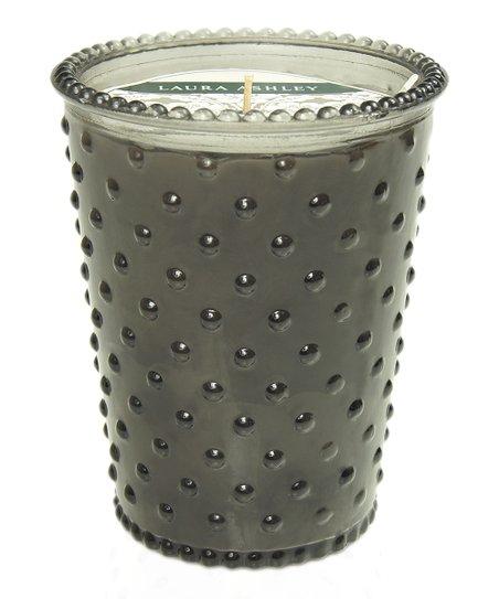 Fireside Amber Royal Hobnail Glass Candle