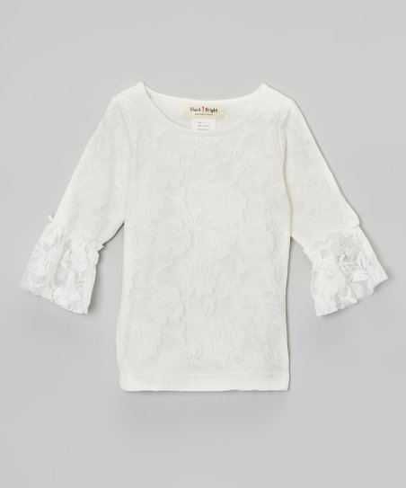 White Lace Top - Infant, Toddler & Girls