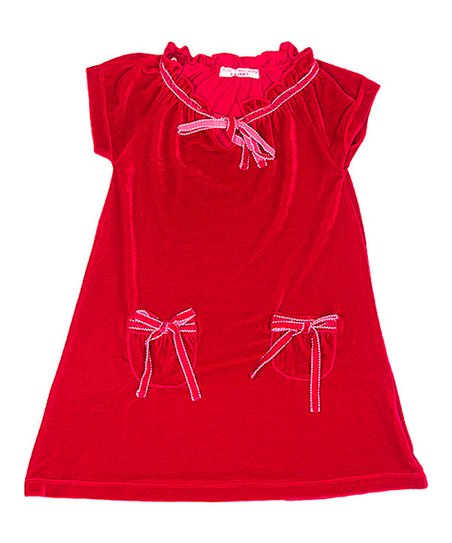 Red Missy Velvet Swing Dress - Toddler & Girls