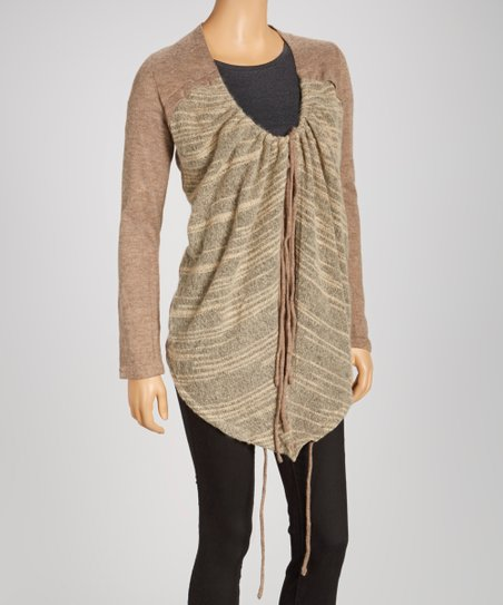 Brown Hi-Low Cardigan