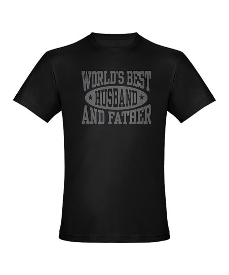 Black 'World's Greatest Husband and Father' Tee - Men