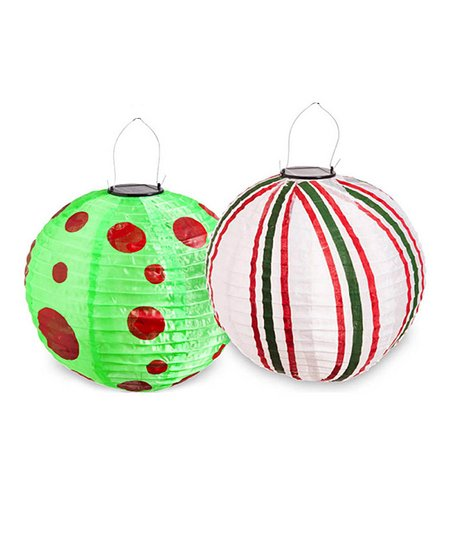 Quirky Christmas Fabric Lantern Set