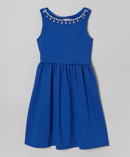 Cobalt Rhinestone Dress