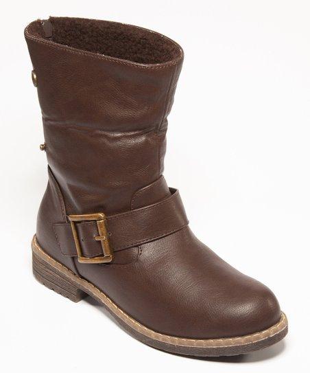 Dark Brown Buckle Bobina Ankle Boot