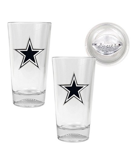 Dallas Cowboys Sculpted Pint Glass - Set of Two
