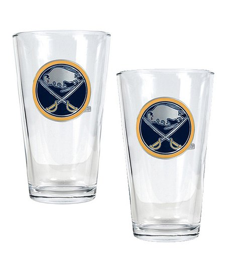 Buffalo Sabres Sculpted Pint Glass - Set of Two